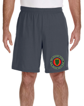 24th Infantry Division Embroidered Gym Shorts-Proud