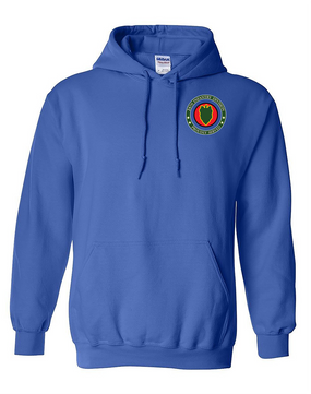 24th Infantry Division Embroidered Hooded Sweatshirt -Proud