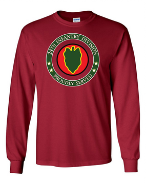 24th Infantry Division Long-Sleeve Cotton Shirt -Proud  FF
