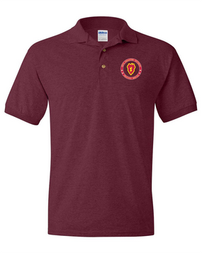 25th Infantry Division Embroidered Cotton Polo Shirt -Proud