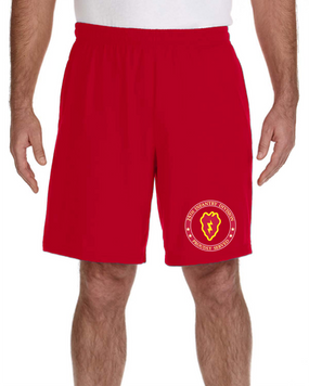 25th Infantry Division Embroidered Gym Shorts-Proud