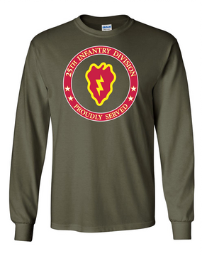 25th Infantry Division Long-Sleeve Cotton Shirt-Proud  FF