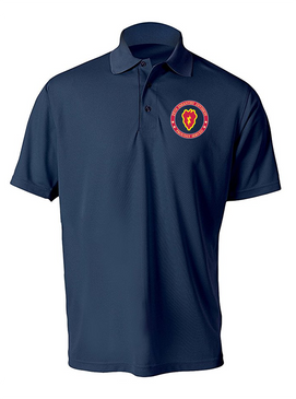 25th Infantry Division Embroidered Moisture Wick Polo -Proud