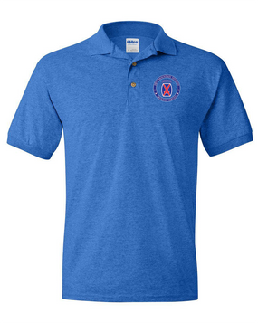 10th Mountain Division Embroidered Cotton Polo Shirt -Proud