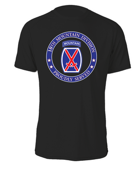 10th Mountain Division Cotton T-Shirt -Proud  FF