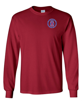 10th Mountain Division Long-Sleeve Cotton Shirt-Proud