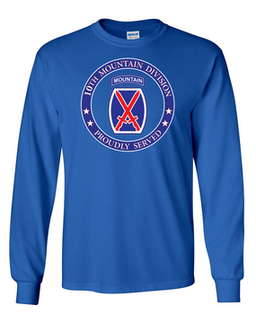 10th Mountain Division Long-Sleeve Cotton Shirt-Proud  FF