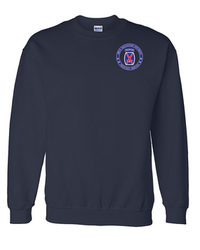 10th Mountain Division Embroidered Sweatshirt-Proud