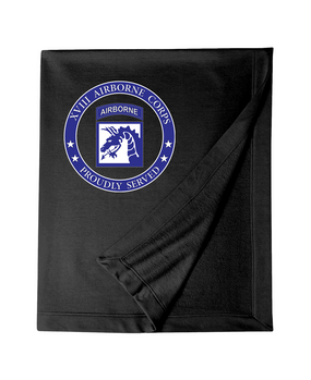 18th Airborne Corps Embroidered Dryblend Stadium Blanket -Proud