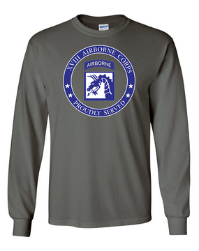 18th Airborne Corps Long-Sleeve Cotton T-Shirt -Proud  FF