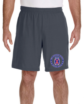 10th Mountain Division Embroidered Gym Shorts-Proud