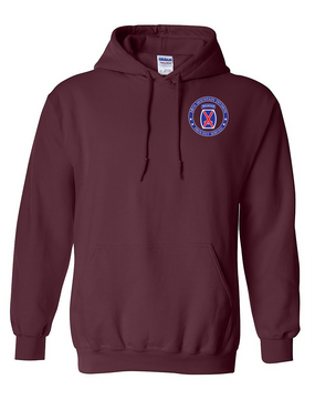 10th Mountain Division Embroidered Hooded Sweatshirt-Proud