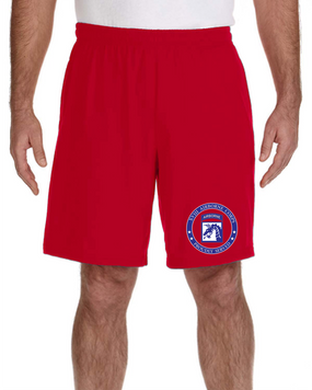 18th Airborne Corps Embroidered Gym Shorts-Proud