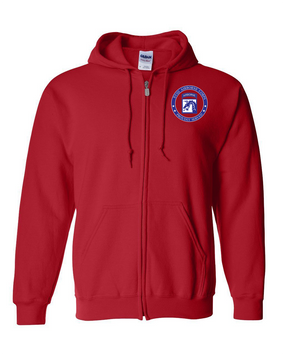 18th Airborne Corps Embroidered Hooded Sweatshirt with Zipper-Proud