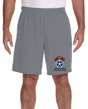 V Corps Company A 75th Infantry Embroidered Gym Shorts