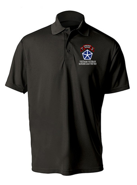 V Corps Company A 75th Infantry Embroidered Moisture Wick Polo