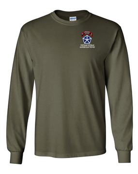 V Corps Company A 75th Infantry Long-Sleeve Cotton T-Shirt
