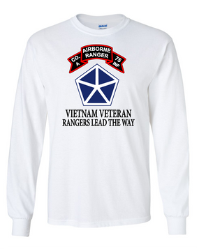 V Corps Company A 75th Infantry Long-Sleeve Cotton T-Shirt-FF