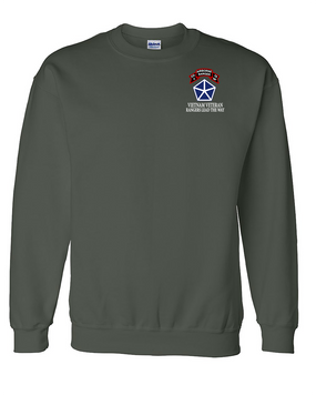 V Corps Company A 75th Infantry Embroidered Sweatshirt