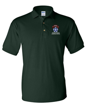 V Corps Company A 75th Infantry Embroidered Cotton Polo Shirt