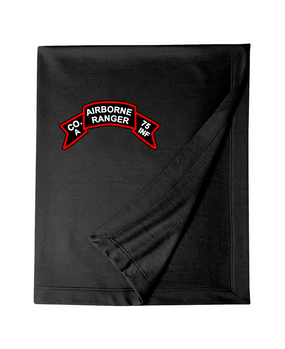 Company A 75th Infantry Embroidered Dryblend Stadium Blanket