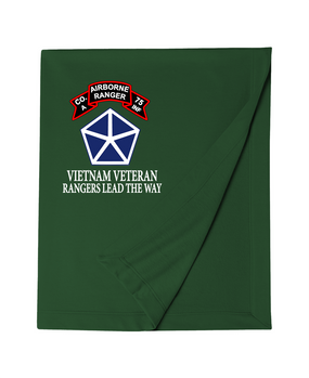 V Corps Company A 75th Infantry Embroidered Dryblend Stadium Blanket
