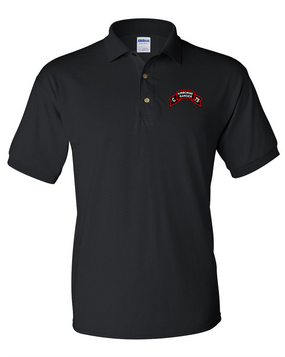 Company C 75th Infantry Embroidered Cotton Polo Shirt