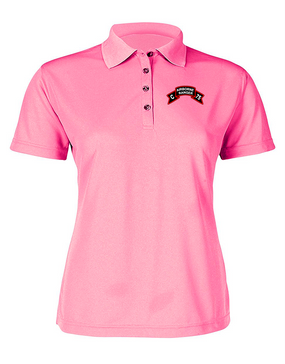 Company C  75th Infantry Ladies Embroidered Moisture Wick Polo Shirt