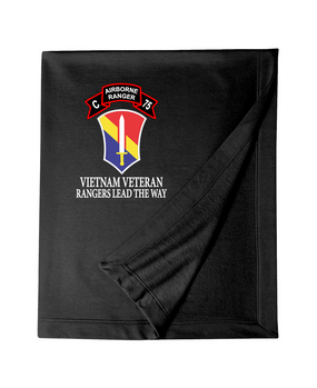 I Field Force Company C 75th Infantry Embroidered Dryblend Stadium Blanket