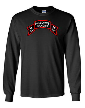 Company D   75th Infantry Long-Sleeve Cotton T-Shirt-FF