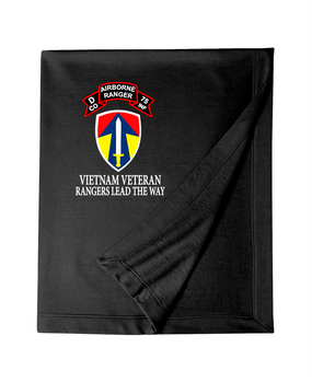 II Field Force Company D 75th Infantry Embroidered Dryblend Stadium Blanket