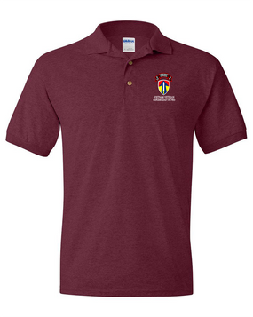 II Field Force Company D  75th Infantry Embroidered Cotton Polo Shirt