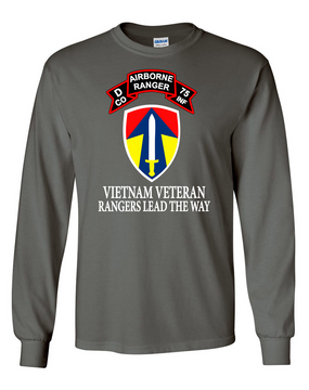 II Field Force Company D   75th Infantry Long-Sleeve Cotton T-Shirt-FF