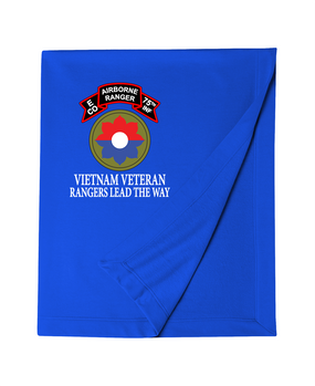 9th Infantry Division Company E  75th Infantry Embroidered Dryblend Stadium Blanket