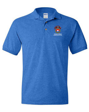 9th Infantry Division Company E  75th Infantry Embroidered Cotton Polo Shirt