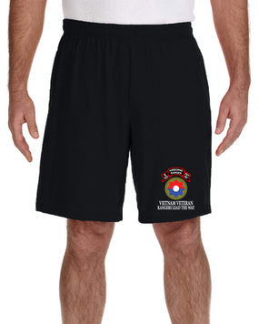 9th Infantry Division E Company  75th Infantry Embroidered Gym Shorts