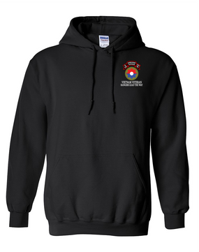 9th Infantry Division E Company  75th Infantry Embroidered Hooded Sweatshirt