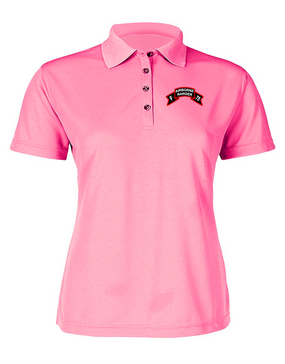 F Company  75th Infantry Ladies Embroidered Moisture Wick Polo Shirt