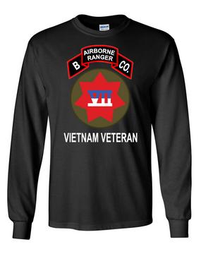 VII Corps Company B  75th Infantry Long-Sleeve Cotton T-Shirt-FF