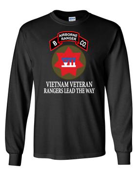VII Corps Company B  75th Infantry Long-Sleeve Cotton T-Shirt RLTW-FF