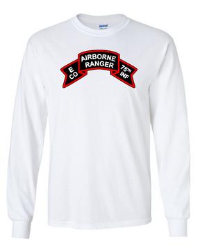 Company E  75th Infantry Long-Sleeve Cotton T-Shirt -FF