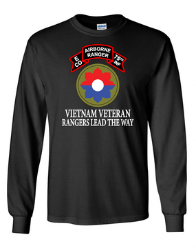 9th Infantry Division Company E  75th Infantry Long-Sleeve Cotton T-Shirt -FF
