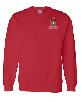 9th Infantry Division Company  E  75th Infantry Embroidered Sweatshirt