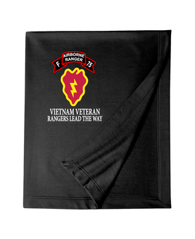 25th Infantry Division Company F  75th Infantry Embroidered Dryblend Stadium Blanket