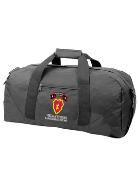 25th Infantry Division F Company 75th Infantry Embroidered Duffel Bag