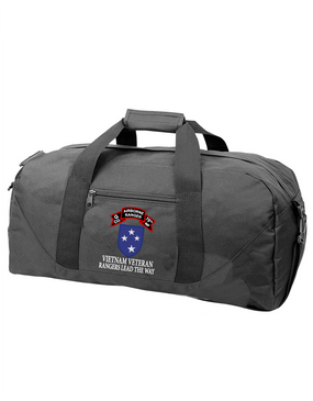 23rd Infantry Division  G Company 75th Infantry Embroidered Duffel Bag