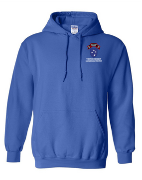 23rd Infantry Division G Company  75th Infantry Embroidered Hooded Sweatshirt