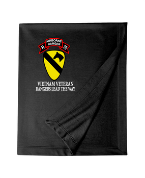 1st Cavalry Division Company H  75th Infantry Embroidered Dryblend Stadium Blanket