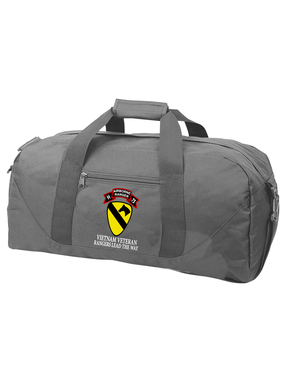 1st Cavalry Division H Company 75th Infantry Embroidered Duffel Bag