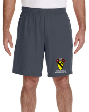 1st Cavalry Division H Company  75th Infantry Embroidered Gym Shorts